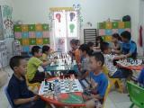 Hình ảnh lớp học cờ vua cơ sở Cầu Giấy